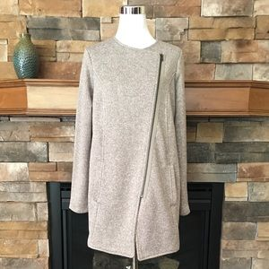 Banana Republic flannel-lined knit cocoon jacket